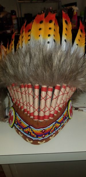 Indian feather hat Perfect for Halloween for Sale in Philadelphia, PA