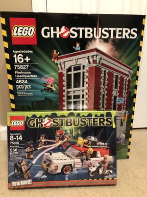 Lego Ghostbusters set Firehouse and Ecto 1 & 2 for Sale in Snellville, GA