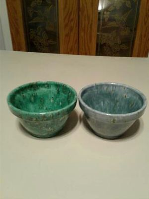 Two green and blueish gray flower pots for Sale in Austin, TX