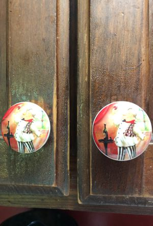 8 handmade Etsy chef kitchen cabinet knobs for Sale in Clarks Summit, PA