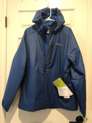 Brand new Men's Eddie Bauer jacket with hoodie. Size for Sale in Mill Creek, WA