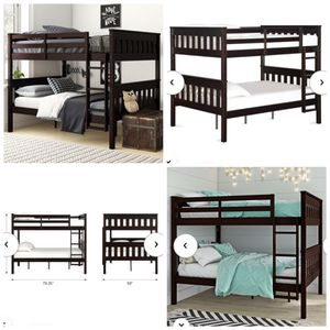 Black bunk bed frame only mattress not included for Sale in Colorado Springs, CO
