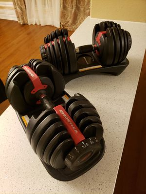 Bowflex 552 Dumbbells 5 to 52.5 LBS. LIKE NEW. PRICE FIRM. for Sale in Houston, TX