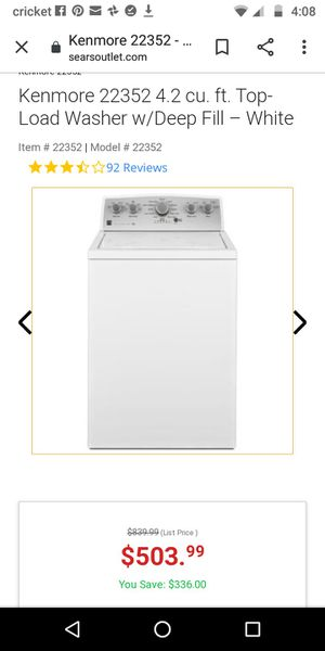 Kenmore washer for Sale in Oklahoma City, OK