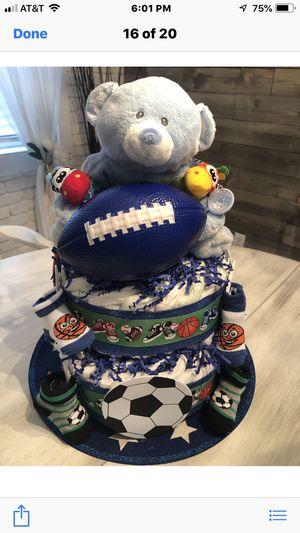 Sports Teddy Bear Diaper Cake for Sale in Oakland Park, FL
