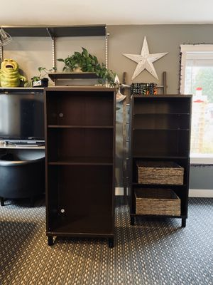 Two brown IKEA BESTA bookshelves for Sale in Bothell, WA