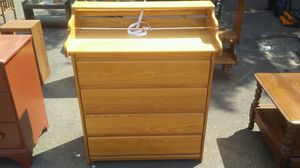 Oak wood baby changing table for Sale in Camden, NJ