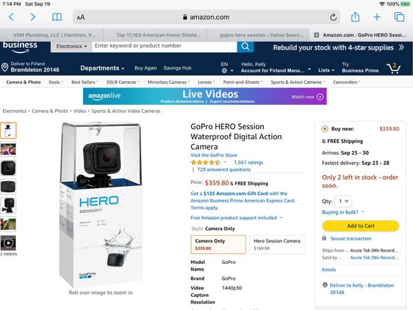 Go Pro Hero Session camera