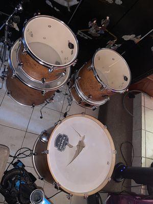Mapex storm 5 pice drum set with cymbals hi hat splash crash ride for Sale in Philadelphia, PA