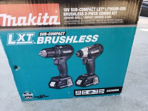 MAKITA 18V LXT SUB COMPACT BRUSHLESS DRILL AND IMPACT 2 BATTERIES AND1 CHARGER NEW NEVER USED for Sale in Ontario, CA