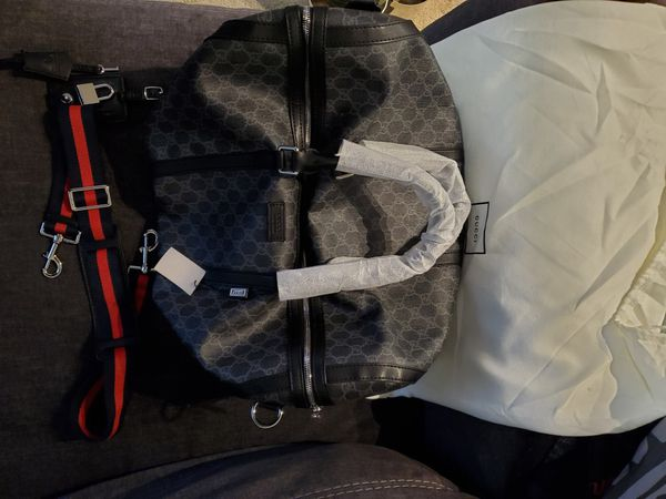 Black Gucci Duffle Bag