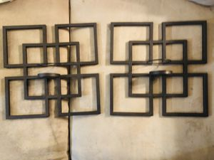 2 Metal Candle Holder Wall Decor for Sale in San Antonio, TX