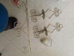 2 sconces, 2 globes, 2 shelves. for Sale in Fairfax, VA