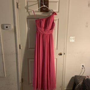 Hot Pink Rose One Shoulder Dress Size 6 for Sale in Hyattsville, MD