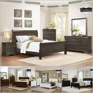 $499 WE DELIVER! BRAND NEW QUEEN BED FRAME DRESSER AND MIRROR for Sale in Oviedo, FL