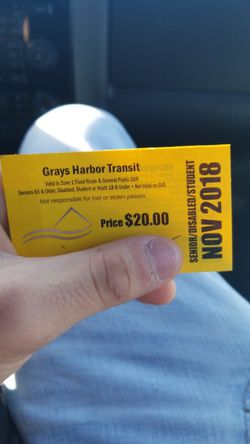 Grays harbor bus pass for Sale in Aberdeen,  WA