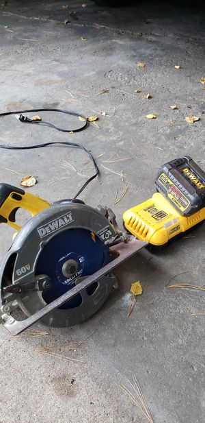 DeWalt cordless 60v saw, battery and charger for Sale in Altoona, WI