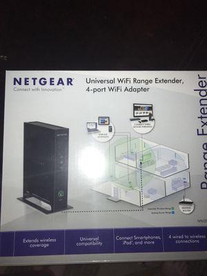 Netgear Universal WiFi Range Extender, 4 port WiFi adapter for Sale in Gainesville, VA