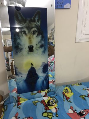 Wolf wall mirror light for Sale in Glen Burnie, MD