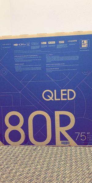 "Samsung TV QLED 75"" Q80R - Brand New In Box - QN75Q80RAF - Retails For $2499 Plus Tax for Sale in Arlington, TX"