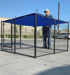 "New 40"" Tall x 32"" Wide Panel Heavy Duty 8 Panels Dog Playpen Pet Safety Fence gate valla Para perros (tarp not included) for Sale in Whittier, CA"
