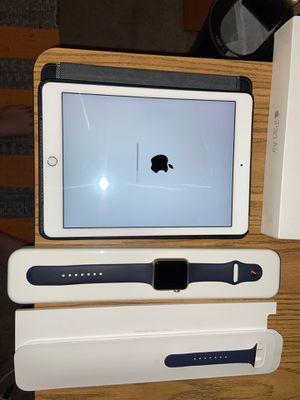 iPad Air 2 and Apple Watch 42mm midnight blue for Sale in Las Vegas, NV
