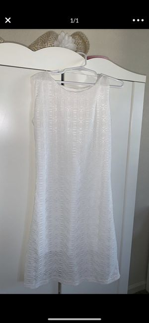Girls white dress size 7/8 for Sale in Antioch, CA