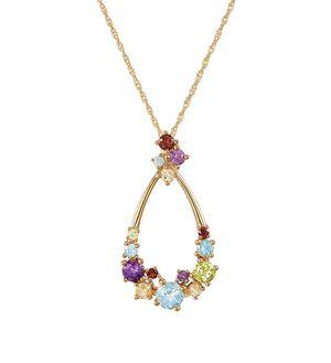 14K Gold Gemstone Pendant Necklace for Sale in Marina del Rey, CA