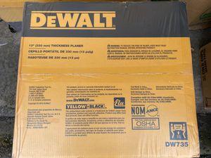 DeWalt DW735 13 Inch Heavy Duty 2 Speed Planer for Sale in Tacoma, WA