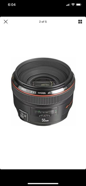 Canon 50 mm 1.2 for Sale in Mesquite, TX