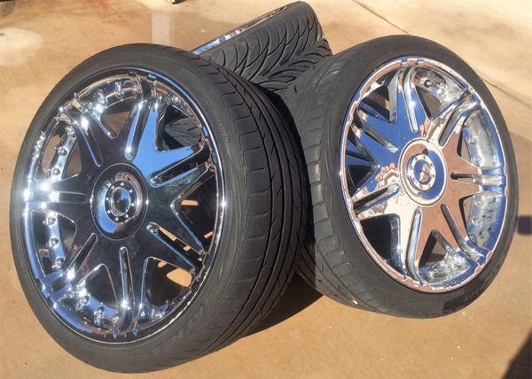 """DVINCI Blade Chrome Wheels Rims 20"""" - 245/35/R20"""