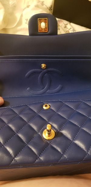 Chanel double flap bag - royal blue for Sale in Mill Creek, WA