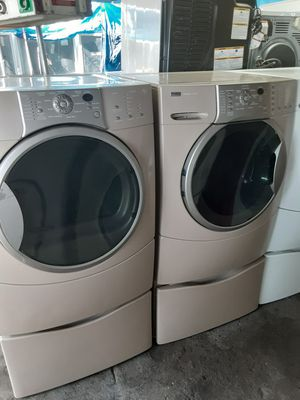 $599 Kenmore Elite washer dryer set with storage pedestals includes delivery in the San Fernando Valley of warranty and installation for Sale in Los Angeles, CA