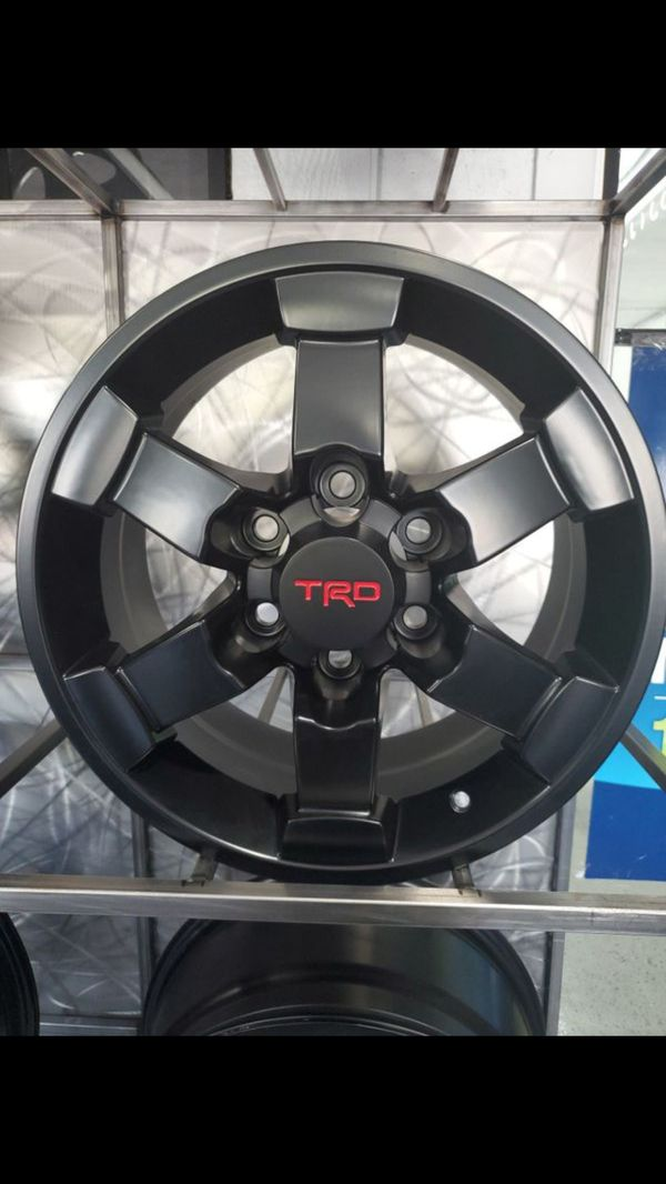 "16"" Toyota TRD satin black wheels fits 4runner Tacoma land cruiser rim wheel tire shop"