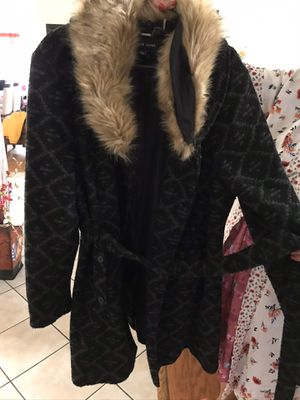 New. Never worn. Black with fringe coat for Sale in Tampa, FL