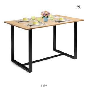 4 Person Dining Table W/ Bamboo Finish for Sale in Terra Bella, CA