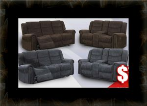 Grey or chocolate recliner set for Sale in Gambrills, MD