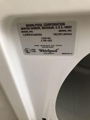 Whirlpool Dryer Model LER5636EQ2 for Sale in Hollywood, FL
