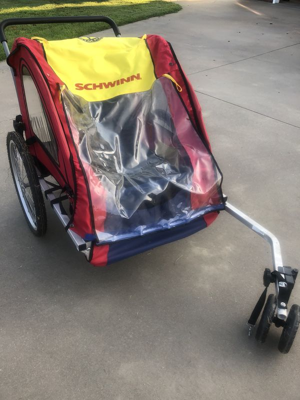 Schwinn 2 Seater Bike Trailer Stroller For Sale In