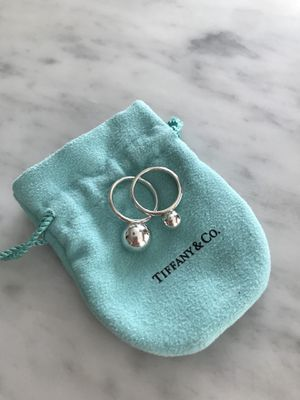 Tiffany small and medium ball rings - sterling silver size 7 for Sale in Renton, WA
