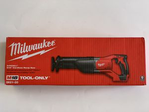 Milwaukee M18 18-Volt Lithium-Ion Cordless SAWZALL Reciprocating Saw 2621-20 for Sale in Garden Grove, CA