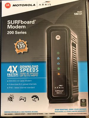 Arris/Motorola SB6121 Cable modem for Sale in Round Rock, TX