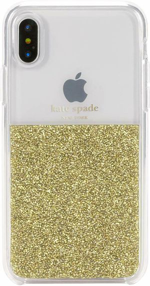 Kate Spade New York - Protective Case for Apple iPhone X and XS (Clear/Gold) NEW for Sale in Rancho Cucamonga, CA