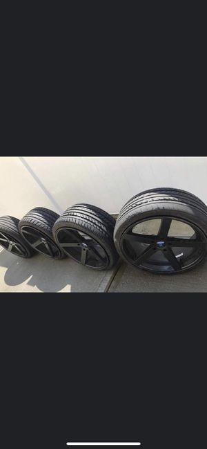 """20"""" Matte Black Rims & Tires for Sale in Carteret, NJ"""