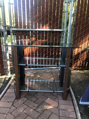 Glass TV stand and entertainment center for Sale in Gilroy, CA