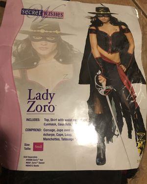 HALLOWEEN COSTUME SEXY LADY ZORRO for Sale in Miami, FL