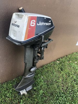 Johnson Outboard motor-6 HP needs new carborator for Sale in Miami, FL