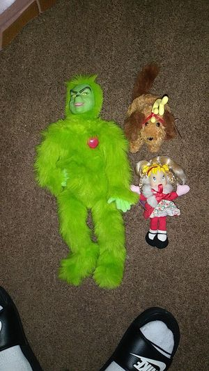 Grinch stuffed animal and Cindy Loo and the dog for Sale in Manheim, PA
