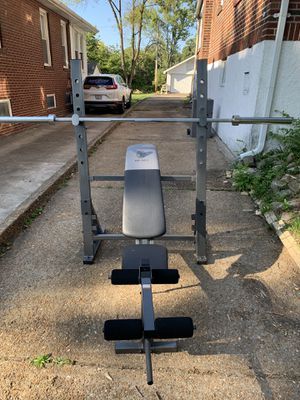 Golds gym Olympic weight bench set for Sale in Overland, MO