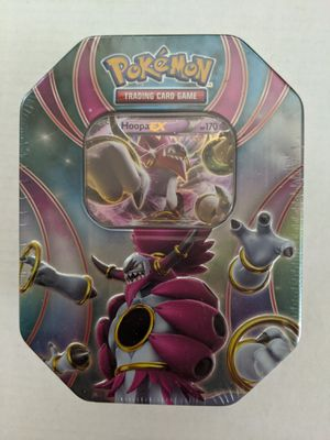 Pokemon TCG Hoopa EX Tin Collectible Cards Game Box for Sale in San Diego, CA